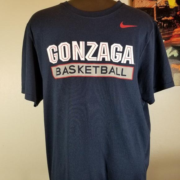 buy online 1234a 92824 Nike Gonzaga Basketball Dri-Fit T-shirt